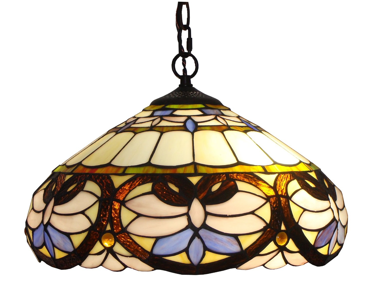 lamp chloe pendant light victorian inverted lamps ceiling style loretta lighting inc tiffany